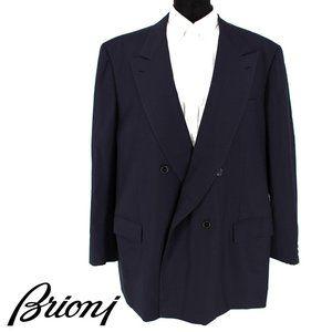 BRIONI Navy Blue Wool Suit Jacket size mens 50R 60